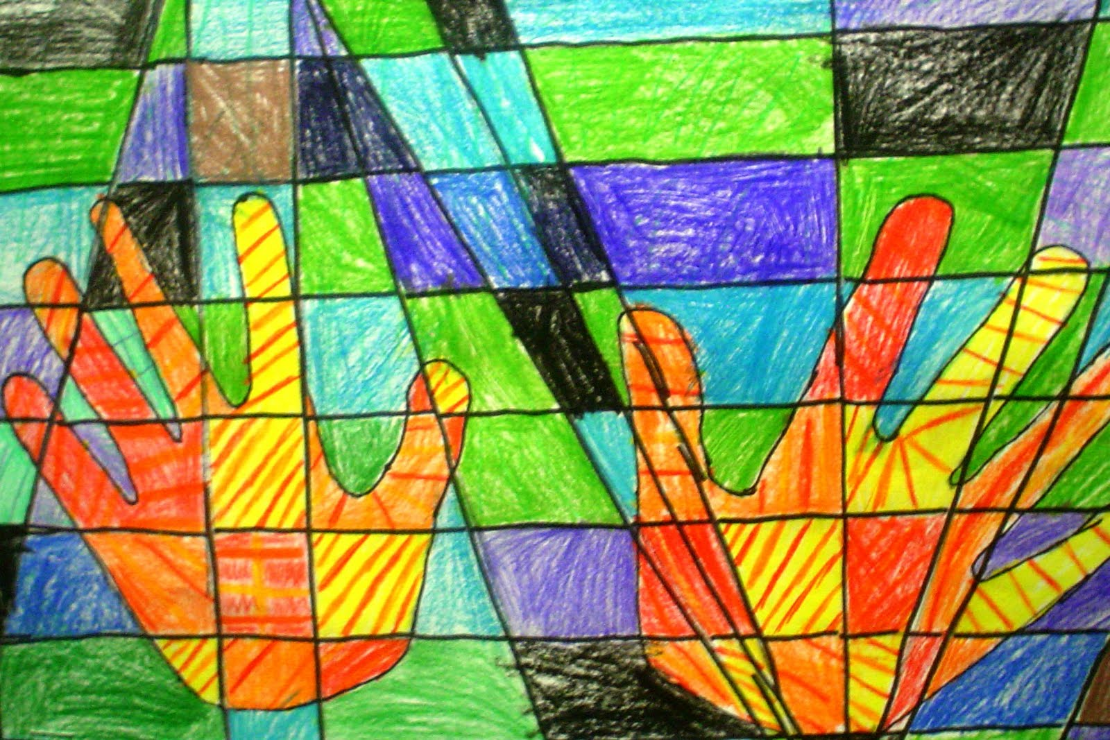Lessons From The Art Room 4th Grade Colorful Hands