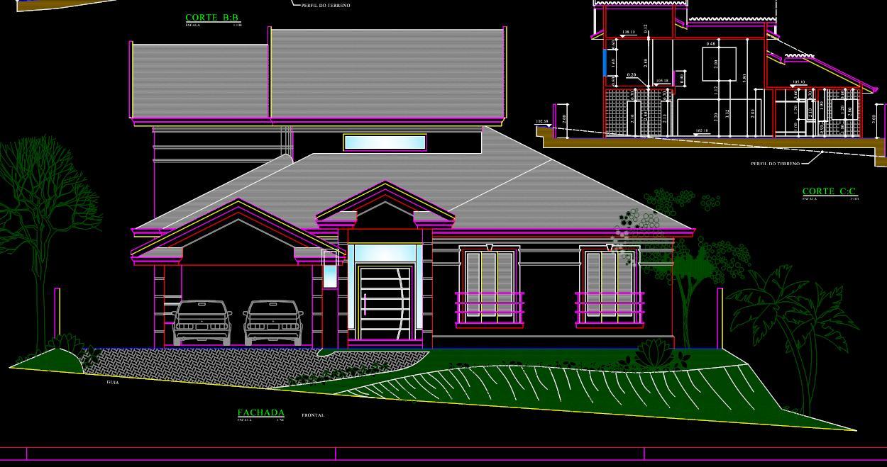Casa em constru o ficando com a cara do projeto for Casa cad