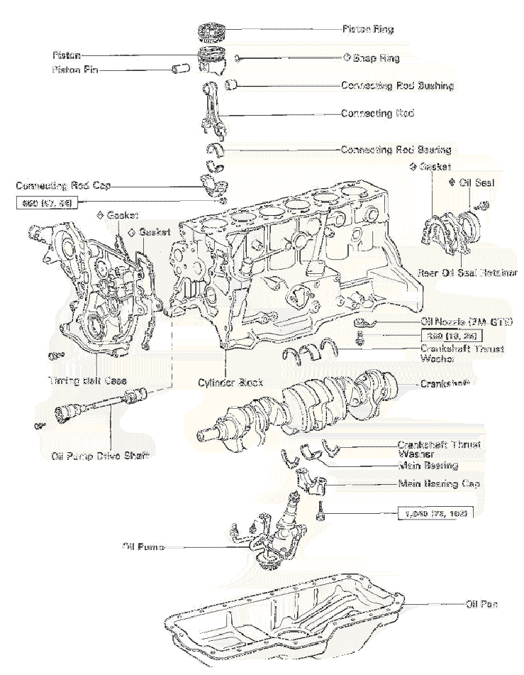 exploded diagram of car engine