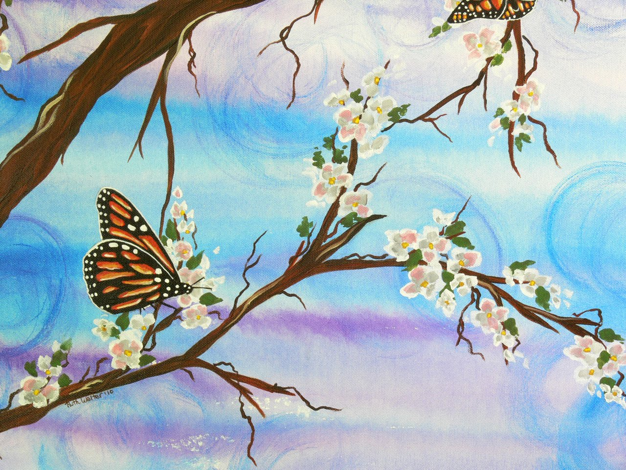 "Artful Creations: ""Monarchy"" - Acrylic Butterfly Painting"