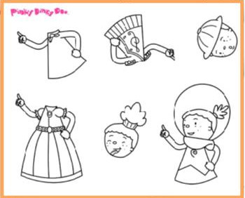 pinky dinky doo coloring pages - photo#24