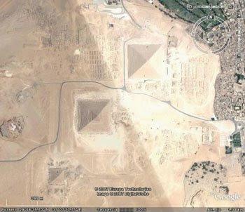 piramides de Egipto desde el cielo