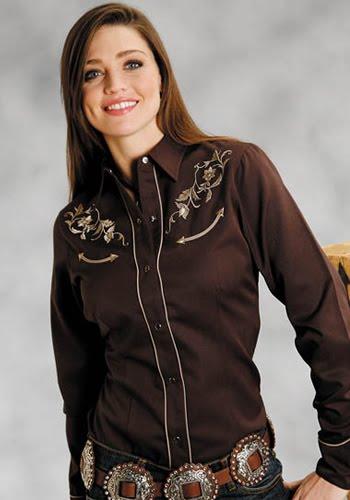 0f85e45b2e454 Eu moda  Camisas vaqueras wrangler para dama