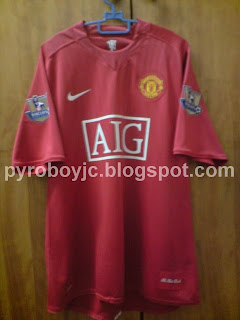 quality design 09f70 966d9 My Jersey Collection: Manchester United 2007-2009 Home Jersey