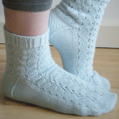 Hand knitted 'Triton' socks