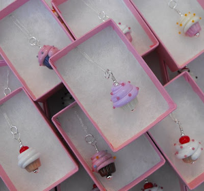 Cupcake Necklaces