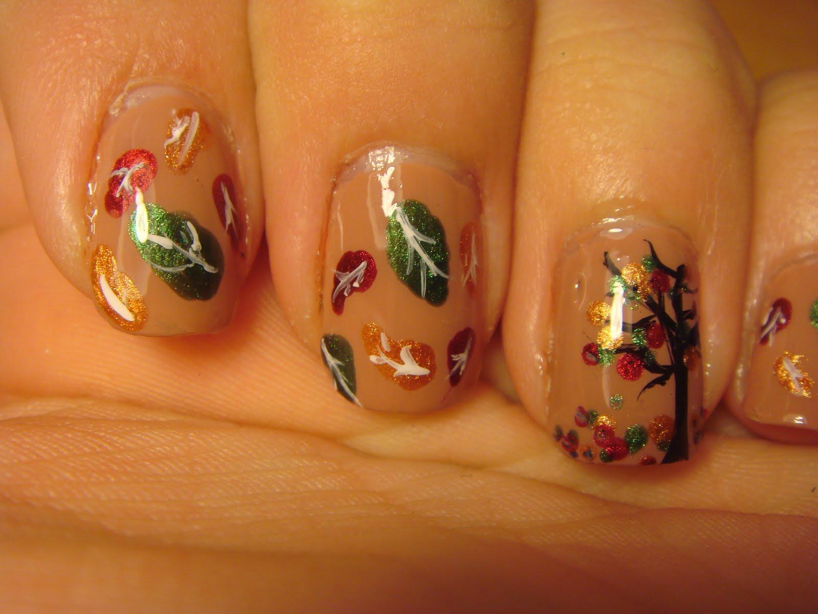 Nail Design Leaf - Nail Arts