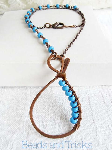 collana blu rame