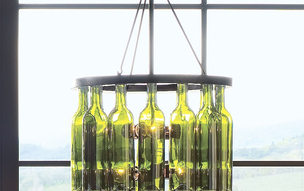 Parsimonia Secondhand With Style Pottery Barn Wine Bottle Chandelier