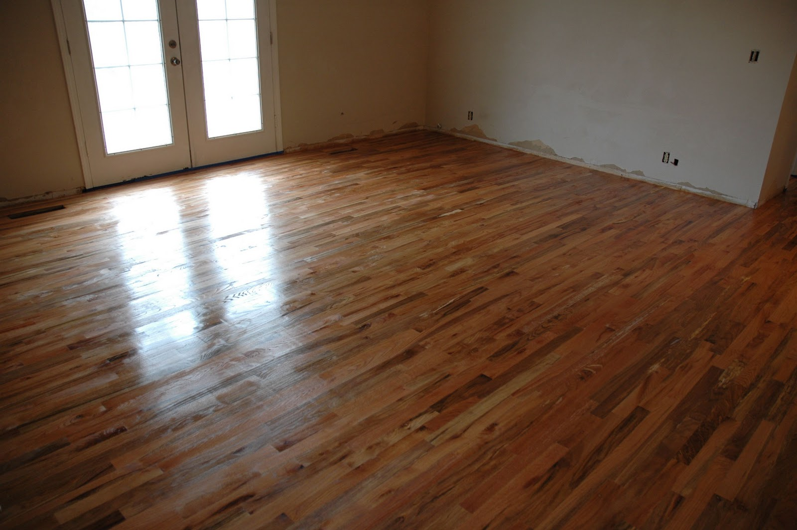 Remodelaholic | How To Finish Solid Wood Flooring; Step by ...
