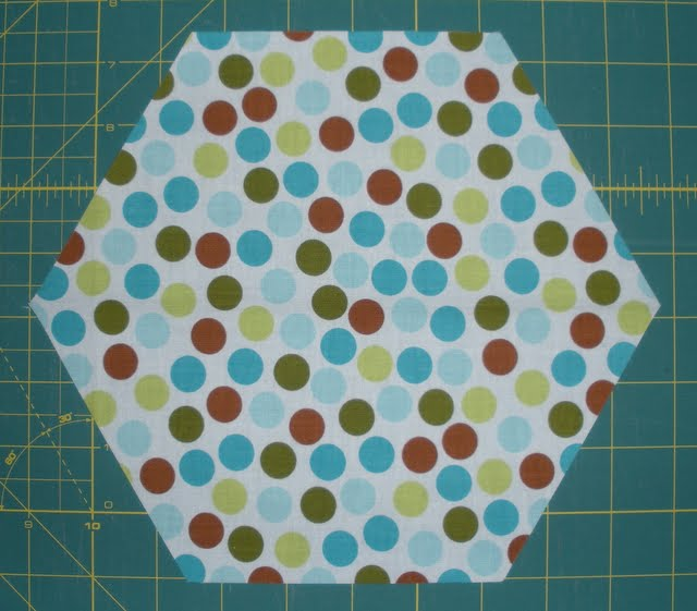 Hexagon quilt along block 7 jaybird quilts for Hexagon quilt template plastic