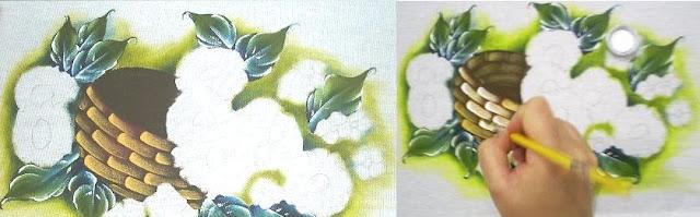pintura em tecido cesta passo a passo como fazer