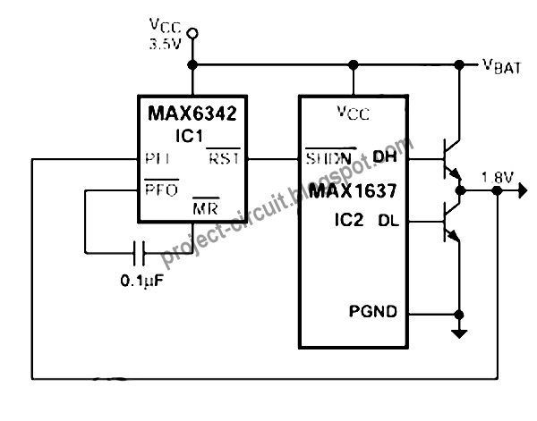 free project circuit diagram  auto retry for max1637 step