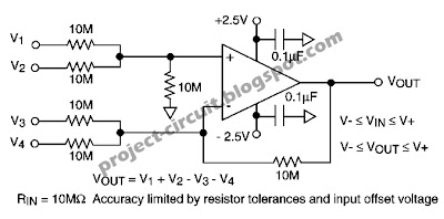 Free Project Circuit Diagram: Simple High Input Impedance