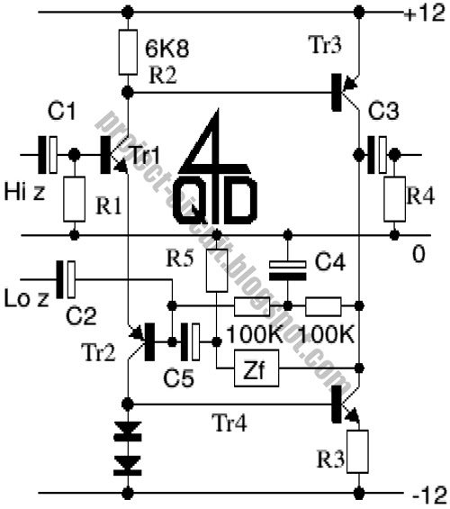 Free Project Circuit Diagram: Universal High Quality Preamp