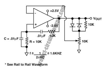 Free Project Circuit Diagram: Wien Bridge Oscillator Circuit
