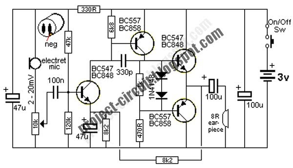 Free Project Circuit Diagram: Small Amplifier Circuit