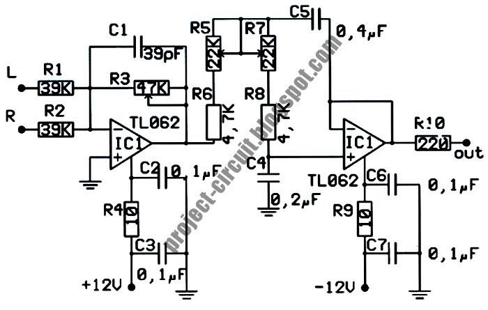 Electronics Technology: Low Pass Filter Subwoofer Circuit
