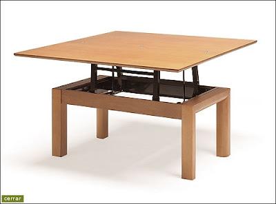2 mesas por 1 mesa de centro elevable y extensible mesa - Mesas plegables para salon ...