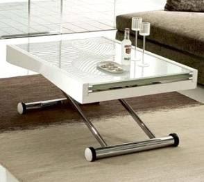 2 mesas por 1 mesa de centro elevable y extensible mesa for Mesa de centro elevable y extensible