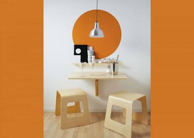 Ideas para cocinas pequeñas: mesa abatible Norbo de Ikea