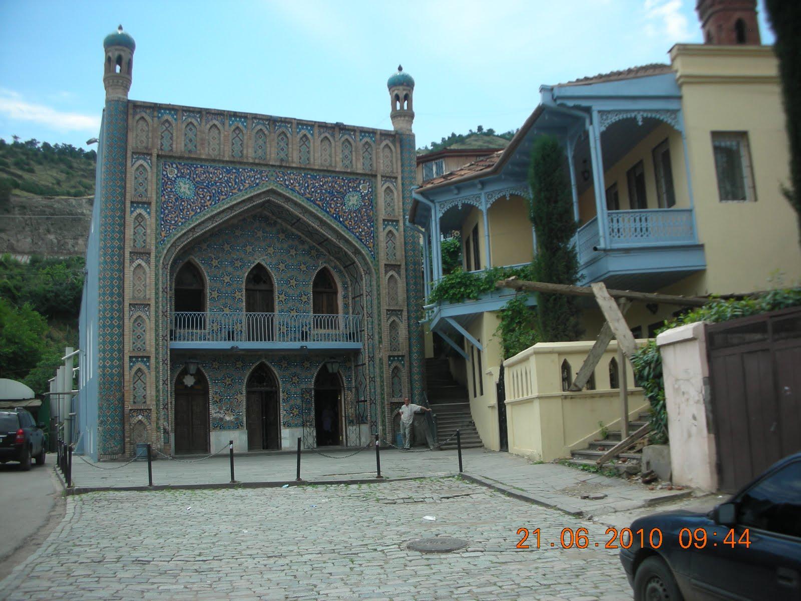 Meine Reise: Blaues Bad in der Altstadt von Tiflis