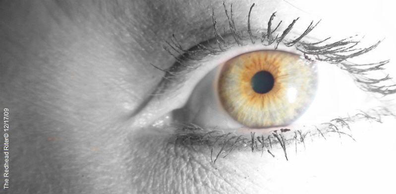 Sherry's hazel eye