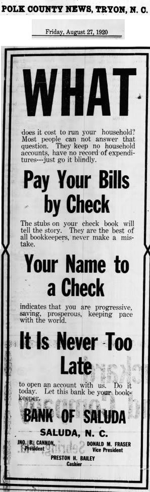 Old newspaper advertisement