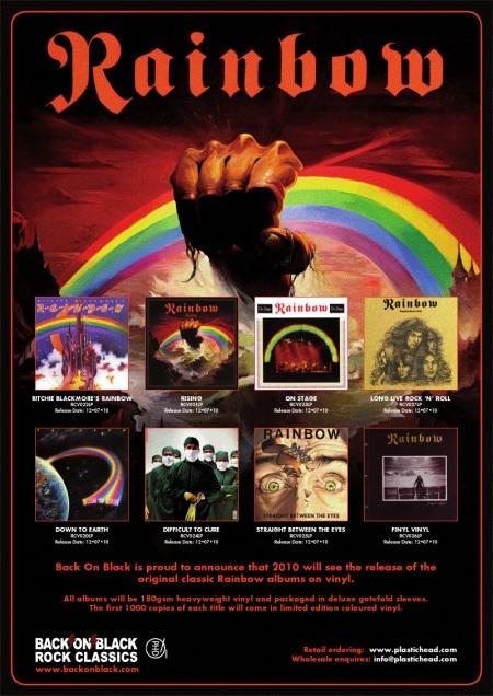 Resultado de imagen de discografia de rainbow
