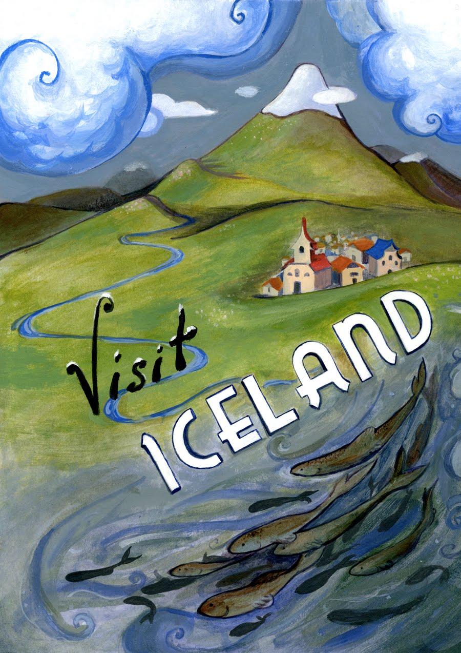 Iceland, vintage travel poster | Vintage Much? | Pinterest