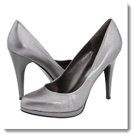 4f7f5dcd6c0 Choose Nine West Rocha Pump in dark silver and you might even get shy  because of the amount of compliments you are getting.