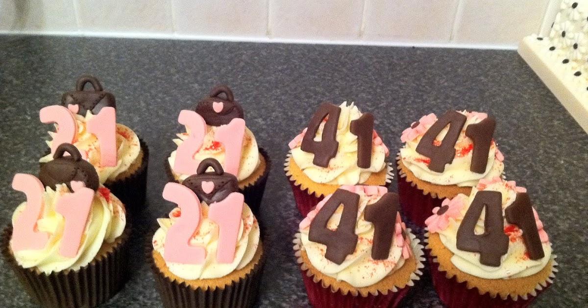41st Wedding Anniversary Gift: Sarah T Cakes: 21st And 41st Birthday Cupcakes
