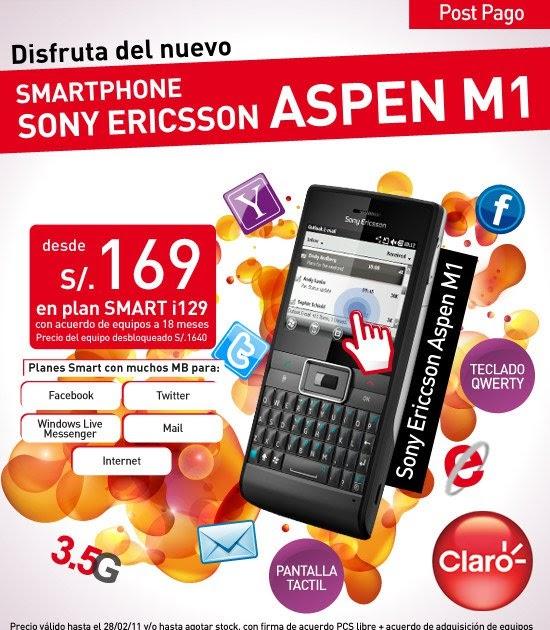 CLARO QUE TIENES MAS: Promoción Del Sony Ericsson Aspen M1