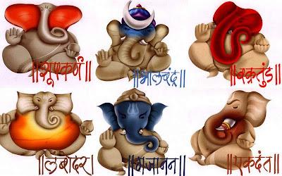 Lord Ganesha' various roopas