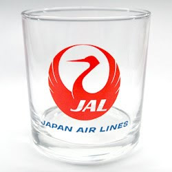 JAL 747 Family Glass with old Tsurumaru logo