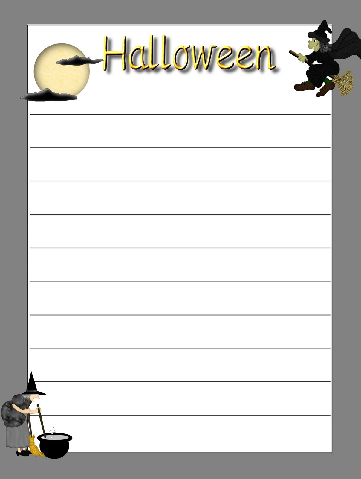 Debbie S Resource Cupboard Halloween Themed Decorated Writing Frames