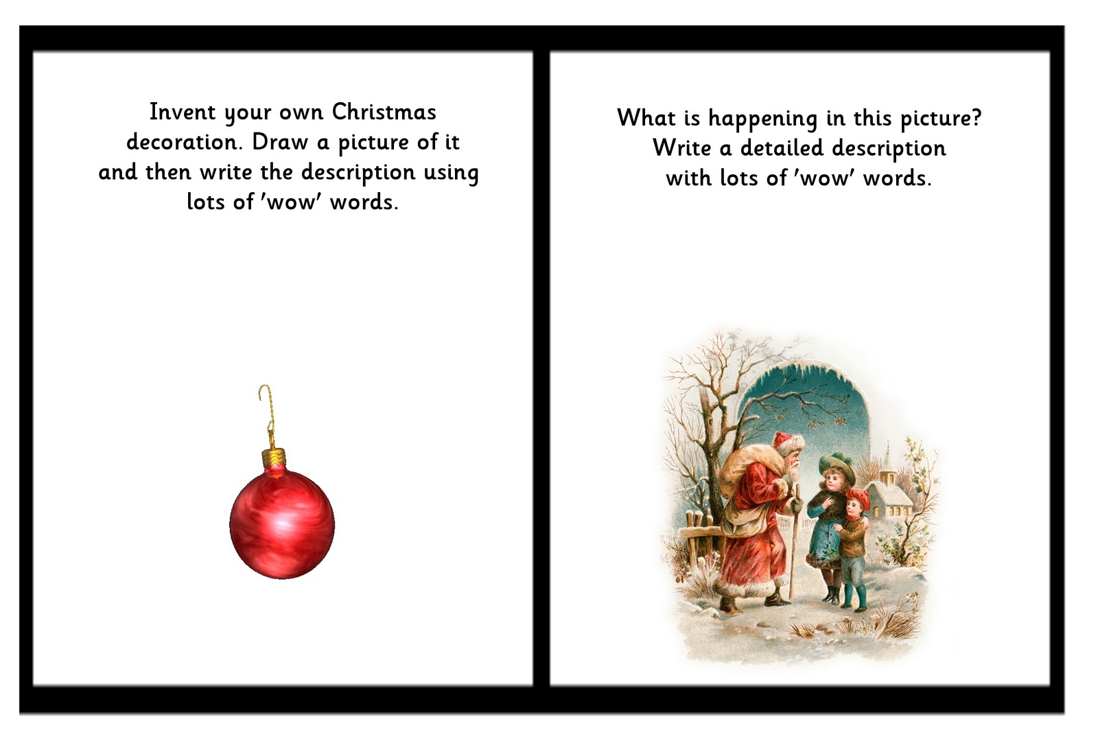 Christmas Writing Prompts.Debbie S Resource Cupboard Christmas Writing Prompts