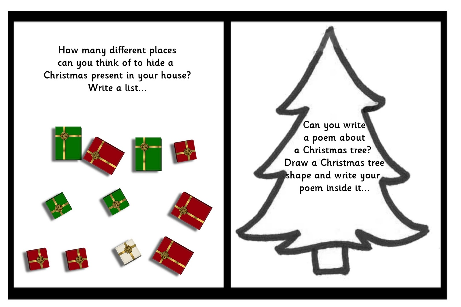 Debbie S Resource Cupboard Christmas Writing Prompts
