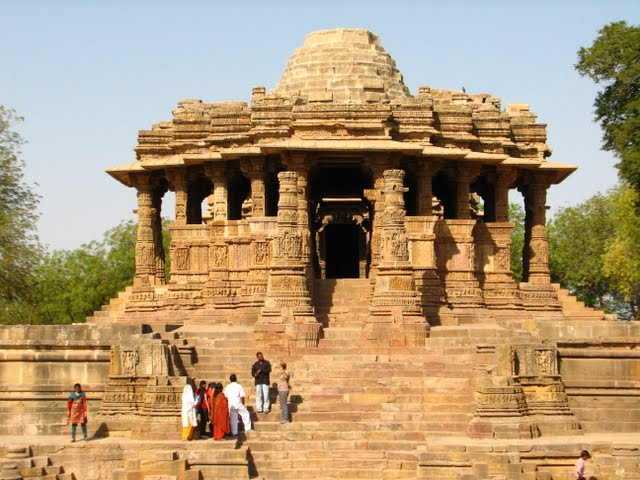 Modhera Sun Temple Gujarat Travel Tourism morning golden photography