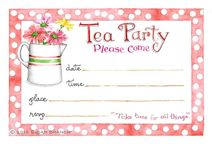 clipart tea party invitation - photo #4