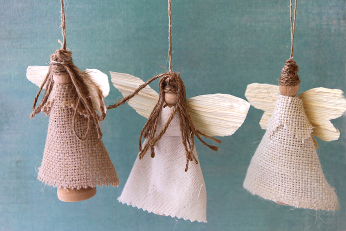 sweet tidings 6th day of christmas earth angel ornaments - Handmade Angels Christmas Decorations