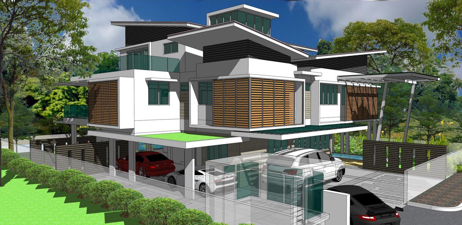 Kenya koto house designs ala design bungalow jln ara bangsar flat roof
