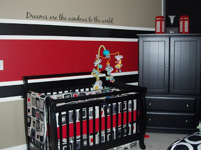 About Doing A Red Black And White Room If We Have Boy Like This One