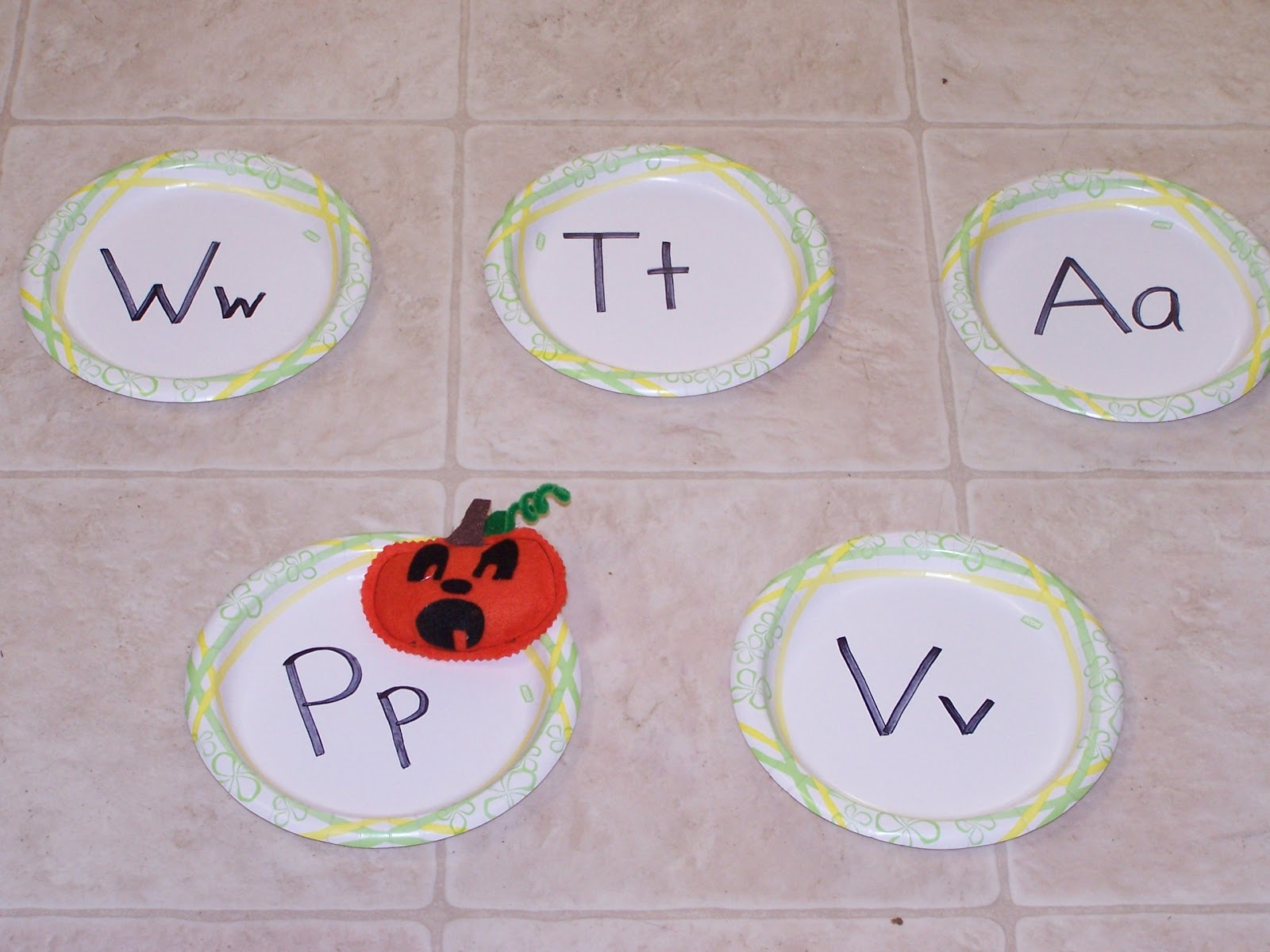 Learning And Teaching With Preschoolers Letter Game Pumpkin Bean Bag
