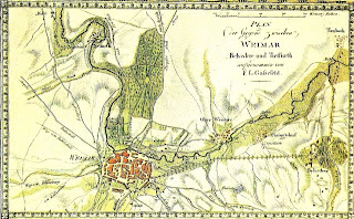Gussfeld's Map of Weimar, published by Bertuch's Geographisches Institut in 1808