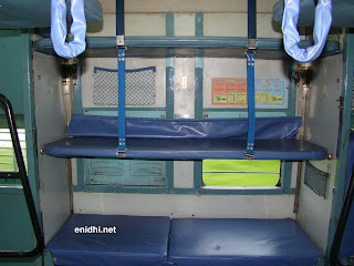 the additional berth in Indian railways when unfolded