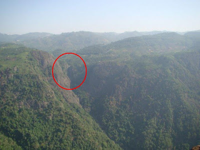 View from Dolphin Nose view point-What you see inside the circle is Catherine Falls