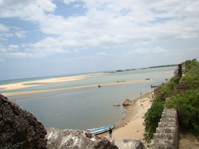 View from top of Alamparai fort near Pondy