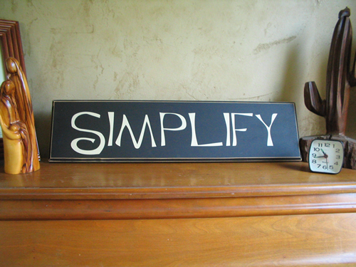 Simplify? Really?