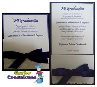 Garbo Creaciones Tarjetas De Invitación Para Graduación